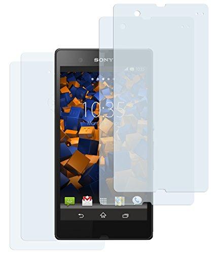 mumbi Schutzfolie kompatibel mit Sony Xperia Z Folie klar, Displayschutzfolie (4x)