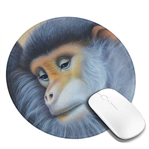 Kleines rundes Mauspad 7.9X7.9inch Monkey Painting Rutschfeste Gummi Desktop Arbeitsmaus Matte Gaming Computer PC Mousepad für Zuhause / Büro