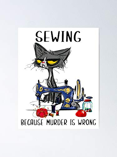 AZSTEEL Black Cat Sewing Poster