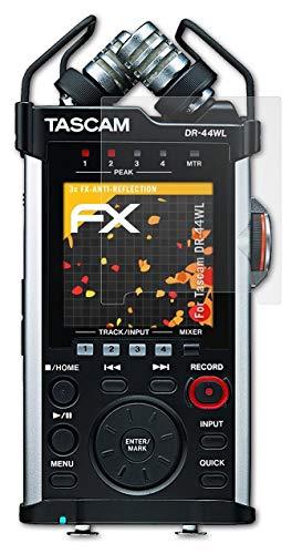 ATFOLIX 화면 보호기 TASCAM DR-44WL 화면 보호 필름 반사 방지 및 충격 흡수 FX 보호 필름(3X)과 호환 가능
