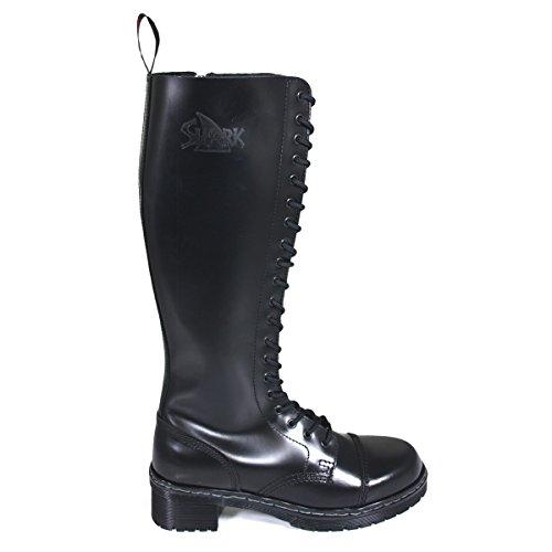 Shark Tank Boots for Girls 20 Loch schwarz, Größe:37 EU
