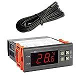 F-blue Centígrados Termostato Digital Calefacción Refrigeración Controlador de Temperatura Sensor de la sonda NTC de Repuesto para STC-1000, DC22V