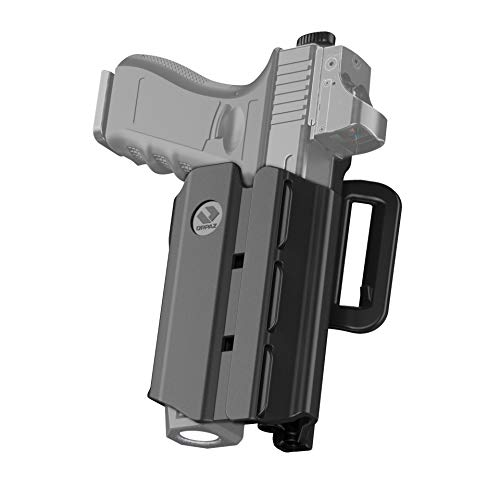Orpaz Glock 21 Holster with Light, Glock 21 Light Bearing Holster with Belt Attachment Compatible with Glock 21 Light/Laser/Sight/Optics