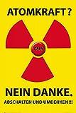 1art1 Atomkraft - Atomkraft Nein Danke Poster 91 x 61 cm