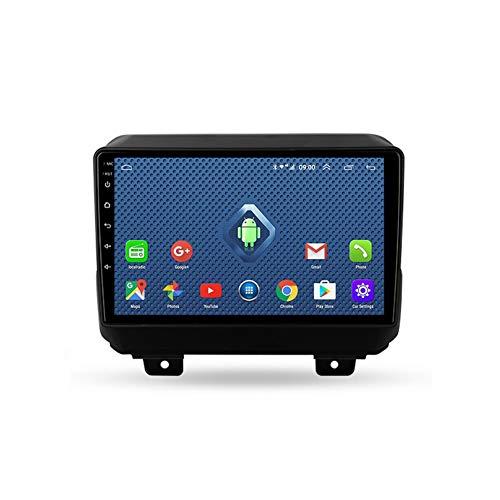 Foof Autoradio Coche Bluetooth 2 DIN Android Radio De Coche 9'' Pantalla Táctil WiFi Plug and Play Completo RCA SWC Soporte Carautoplay/GPS/Dab+/OBDII para Jeep Wrangler 4 JL,Quad Core,4G WiFi 2G+32G