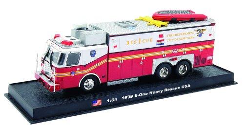 E-one Heavy Rescue Fire Truck Diecast 1:64 Model (Amercom GB-4)