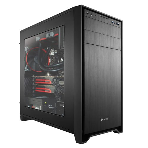 Corsair CC650DW-1 Mid-Tower Obsidian 650D Case, Nero