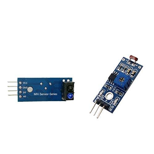SDENSHI Módulo Sensor de Pista Infrarrojo TCRT5000 + Sensor Fotorresistor