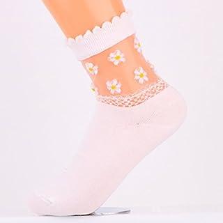 ソックス レディース 靴下 シースルーソックス レディース 花柄 靴下 春 夏 秋 ガールズ カジュアル シースルーくつした 透明 全3色 レディースファッション