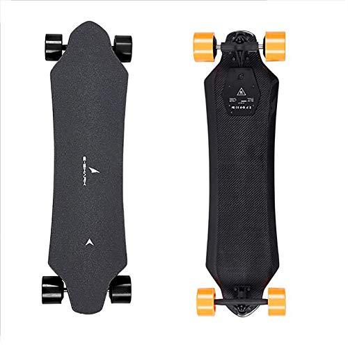 FATSW Elektro Skateboard Elektrisches Longboard mit LED-Anzeige Fernbedienung, Vollcarbonfaser Doppelter 1200W Motor 50km/h, bis zu 30km Reichweit, für Jugendliche Erwachsene
