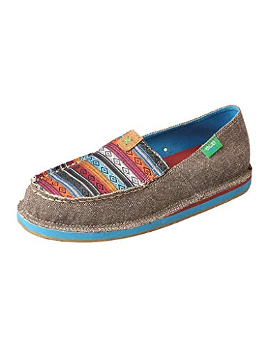 Twisted X Women's Serape Driving Moccasin Shoes Moc Toe Grey 11 M
