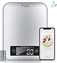 【Mothers Day Gifts】Muzili Smart Food Scale,3 in 1 Function as Digital kitchen/Coffee/Nutrition Scale with Nutritional Calculator and Timer, Using APP to Track Calorie Protein Fat for kids, mom,elder