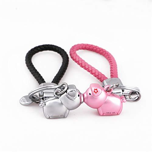 MILESI Magnetic Kissing Piggy Keychain Valentine's Love presente para parejas/Regalo de Navidad