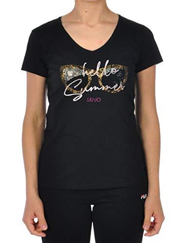 Liu Jo Jeans LIUJO T-Shirt FA0376J0094, Schwarz X-Small