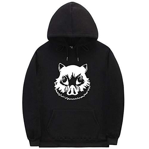 Unisex Demon Slayer Hoodie 3D Gedruckt Anime Kimetsu no Yaiba Cosplay Sportswear Sweatshirts Langarm Demon Slayer Manga Hooded Tops Hoodies-A_L