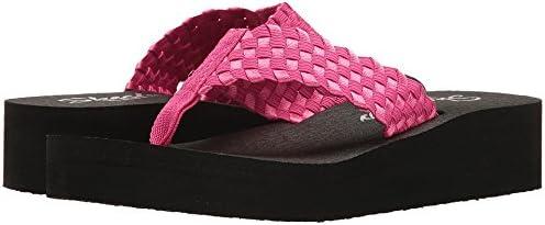 Skechers Women's Vinyasa Tricker Weave Platform safety Max 59% OFF Hot U Pink Thong