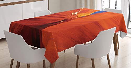 ABAKUHAUS Americana Mantele, Gran Cañón Rocas de los EEUU, Resistente al Agua Apto Uso Exterior e Interior No Destiñen, 140 x 200 cm, Azul Naranja