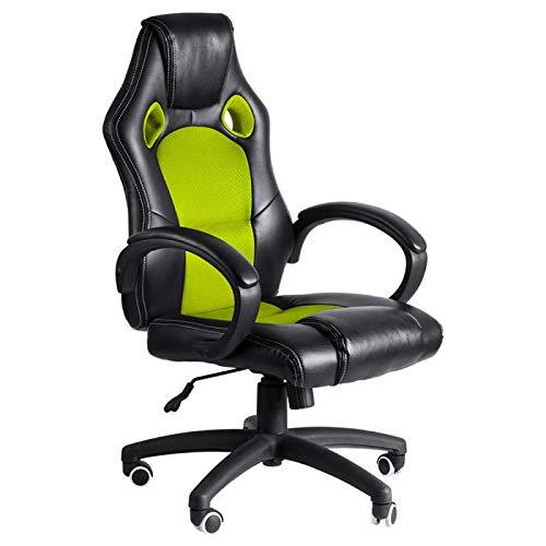 Regalos Miguel - Sillas Gaming - Silla Pro - Verde y Negro - Envío Desde España