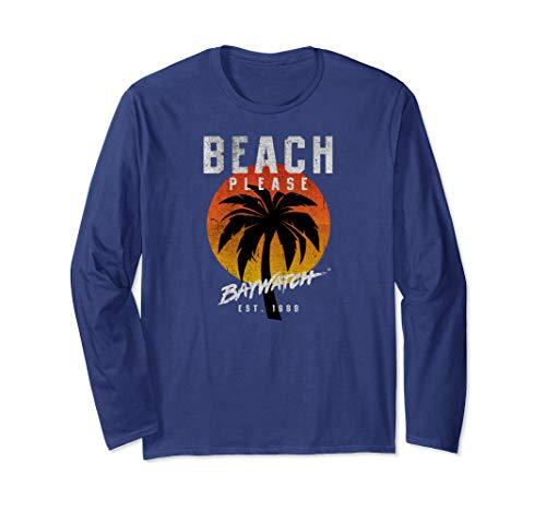 Unisex Baywatch Beach Please Long Sleeve T-Shirt