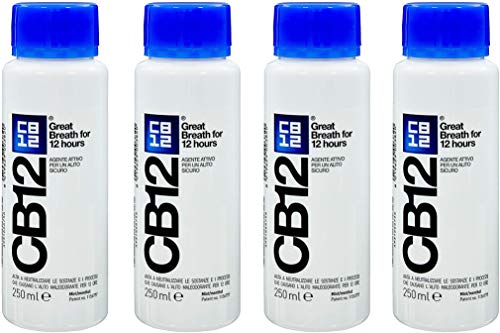 CB12 - Enjuague bucal menta/mentolado, 4 paquetes de 250ml
