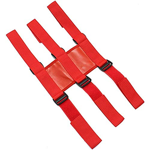 Adjustable Roll Bar Fire Extinguisher Mount Holder 3 lb for Wrangler JK JKU (Red)