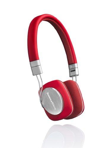 Bowers & Wilkins P3 Ultraleicht HiFi-Kopfhörer inkl. MFI-Anschlusskabel für Apple iPod/iPhone rot