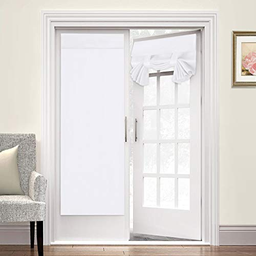 Room Darkening French Door Curtains for Tricia Window Door Curtains Thermal Curtain/Drape/Drapery Single Door Curtain 26quot Width x 68quot Length Pure White 2 Panel