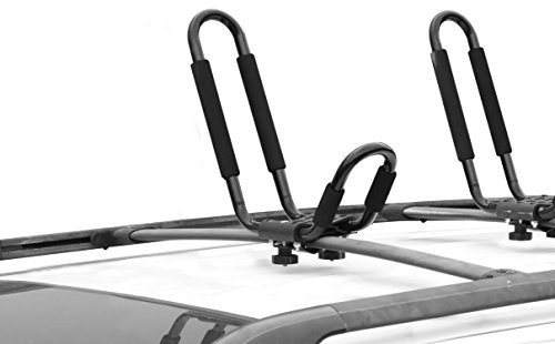 CargoLoc 2-Piece Universal Roof Top Mounted Kayak Paddle Board Canoe Boat and Lumber Carrier – Designed to Fit Most Roof Top Cross Bars – Easy Installation (32544)