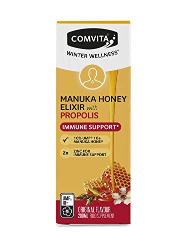 Comvita Immune Support Manuka Honey Elixir with Propolis and Zinc (UMF 10+, MGO 263+) - 200ml