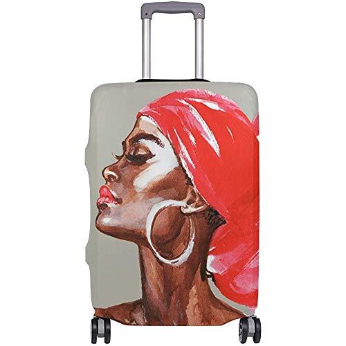 Mujer afroamericana Pintura de Acuarela Cubierta de Equipaje de Viaje