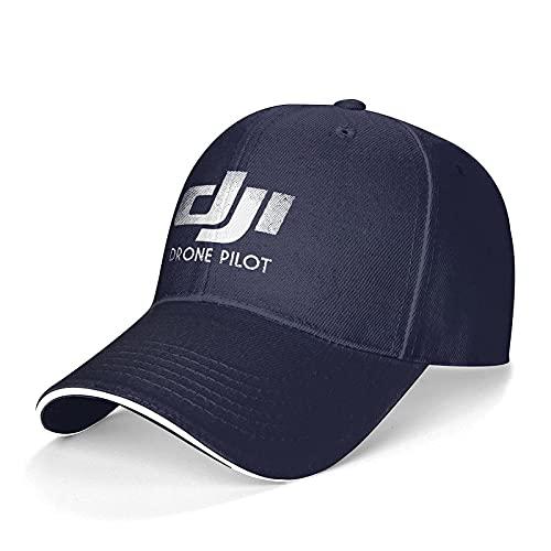 jhgfd7523 - Cappellino da baseball per DJI Drone Phantom Pilot, unisex, regolabile, colore: Nero