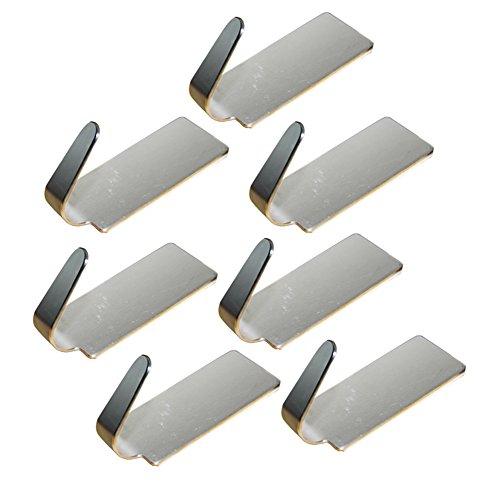 Leisial Lot de 6 crochets de porte de salle de bain en acier inoxydable pour cuisine, ustensile de rangement en métal, adhésif 1,5 x 1,5 x 3,5 cm