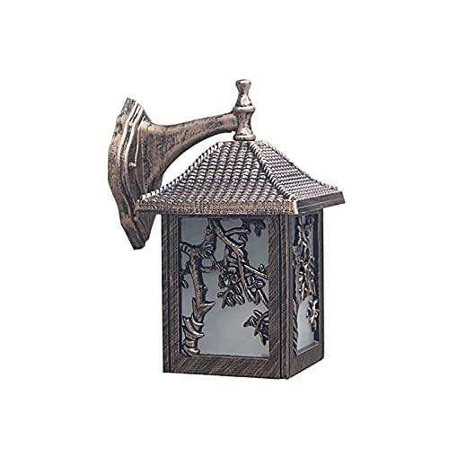 XYJHQEYJ Lámpara de Pared, lámpara de Pared al Aire Libre Focos de Pared Retro, Chalet Guardia Puerta Lámpara de Pared Patio Exterior Pared de Pared Lámpara de Pared de Techo