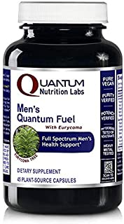 Quantum Men's Fuel, 45 Veg caps - Testosterone Support Formula for Quantum-State Performance and Strength Support