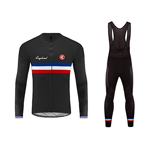 UGLY FROG Hiver Homme Cuissard VTT + Maillot Velo à Manches Longues Thermo Vêtements de Cyclisme Anti-Froid