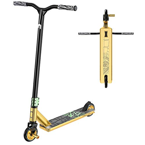 Stunt Scooter Pro Scooter-Trick Scooter-Designed for Boys and Girls-Freestyle Scooter Perfet for 8+ and Suitable for Riders of All Levels (C6 Gold/Green)