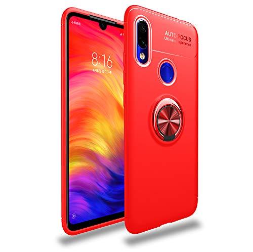 TiHen Funda Xiaomi Redmi Go, 360 Grados Protective con Anillo Soporte+Pantalla de Vidrio Templado Case Cover Skin móviles telefonía Carcasas Fundas para Xiaomi Redmi Go -Rojo