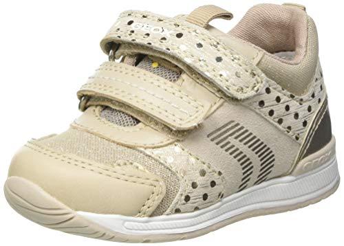 Geox Baby-Mädchen B RISHON Girl A First Walker Shoe, BEIGE/Gold, 19 EU