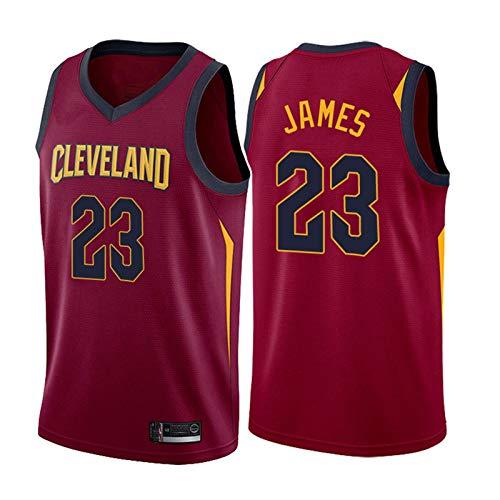Basketball Trikot Lebron James # 23 Cleveland Cavaliers, Swingman-Trikot für Herren, Stickerei schnell trocknendes ärmelloses Unisex-T-Shirt Kann wiederholt gereinigt Werden-red-L