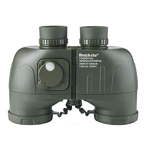 10x50 HD Militär-Fernglas mit Entfernungsmesser-Kompass, beschlagfreies und wasserdichtes Fernglas für Erwachsene, mit Nachtlicht, ideal für Vogelbeobachtungsreisen, Sternbeobachtungs-Jagdkonzerte