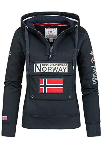 Geographical Norway - Sudadera para mujer azul marino M