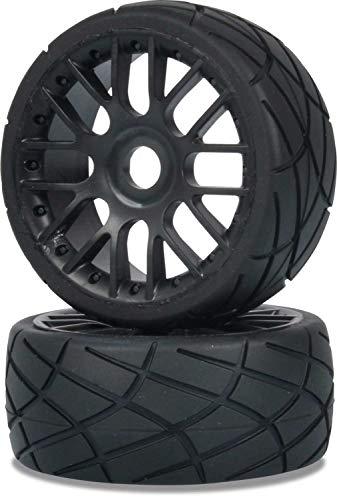 Carson 1:8 Reifen Set On-Road 6S 2St, Ersatzteil, Modellbau, Zubehör, Tuningteile, 500405841, schwarz