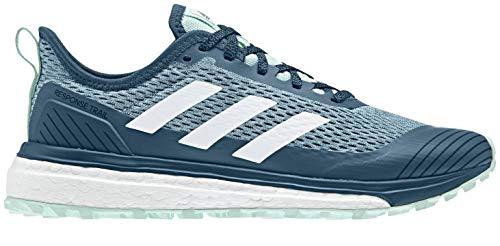 adidas Outdoor Women Response Trail W Running Shoe, Teal/White, 6.5 B(M) US