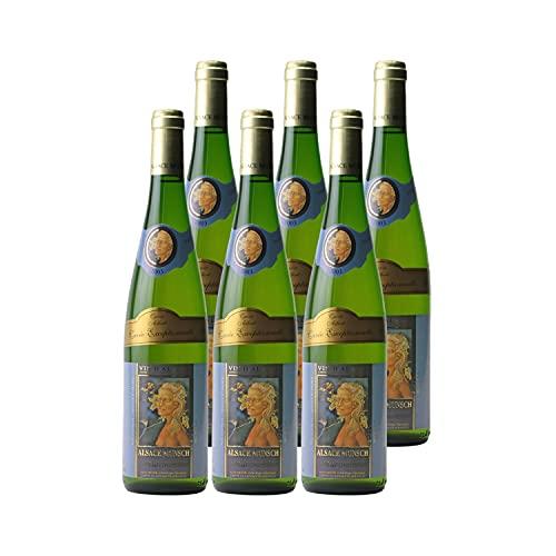 Alsace Gewurztraminer Cuvée Exceptionnelle Albert Weißwein 2003 - Alsace Munsch - g.U. - Elsass Frankreich - Rebsorte Gewurztraminer - 6x75cl