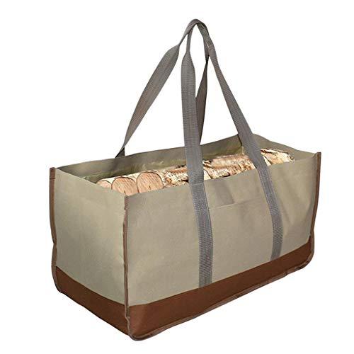 Xuebai Large Oxford Firewood Log Carrier Einkaufstasche für Kaminofen Zubehör Einkaufstaschen 2#