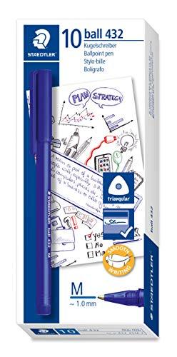 STAEDTLER ball Kugelschreiber in der Farbe blau, Dokumentenecht, Airplane safe, 10 Stück, 432 35M-3