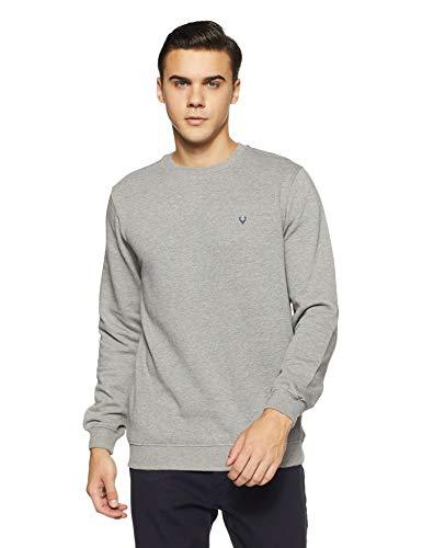 Allen Solly Men's Sweatshirt (ASSTORGPN40121S_grey melange VMKB04)