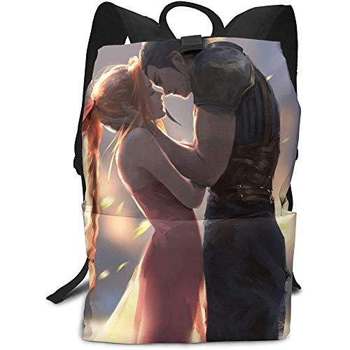 Kinderrucksäcke,Fi-Nal Fan-Tasy Vii-Zack Anime Reisetaschen, Leichte Rucksäcke Für Erwachsene Outdoor Gym,40cm(H) x29cm(W)