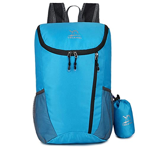 Mochila plegable portátil ultraligera para hombres, al aire libre senderismo viajes mochilas, impermeable camping mujeres bolsas de compras