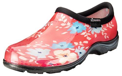 Sloggers 5120FFNCL08 Waterproof Comfort Shoe, 8, Coral Floral Fun Print